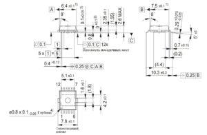 PG-DSO-12-9 (плоскийпластмассовыймикрокорпуссдвустороннимрасположениемвыводоввформекрылачайки, (микро)корпустипаPSOP,PSOP-(микро)корпус)