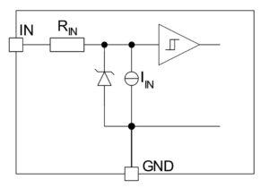 Рисунок 6. Входная цепь (IN1 и IN2)