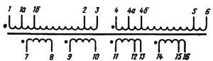 Рис.3. Электрическая принципиальная схема накального трансформатора ТН30 -127/220-50.